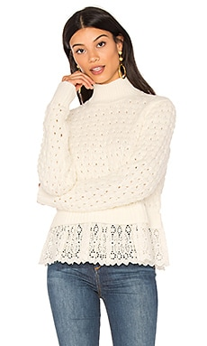 Pop Stich Pullover in Chalk