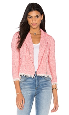 Rebecca Taylor Summer Tweed Jacket in Coral