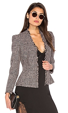 Houndstooth Tweed Jacket in Teaberry Combo