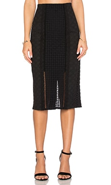 Rebecca Taylor Lace Crochet Skirt in Black