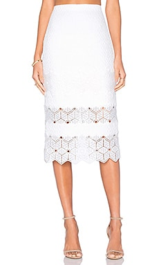 Dia Lace Skirt in Snow
