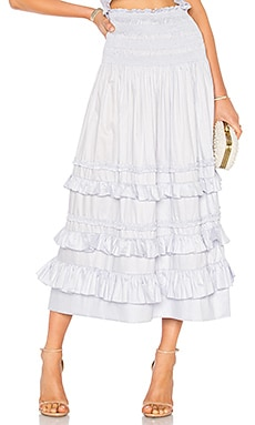 Cotton Midi Skirt Rebecca Taylor $350