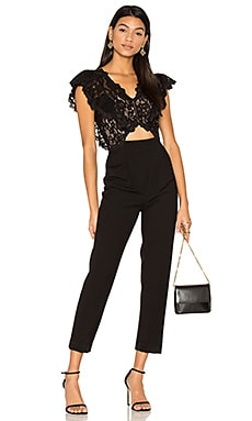Sleeveless Lace Jumpsuit in Black
