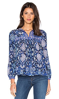Long Sleeve Dreamweaver Top in Indigo Combo