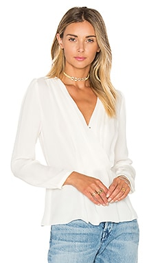 Rebecca Taylor Wrap Top in Chalk