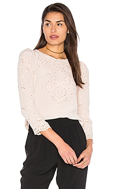 Teardrop Eyelet Top in Putty