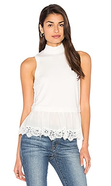 Terry Lace Top in Chalk