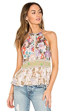 Ruffle Tank in Print Mix Combo