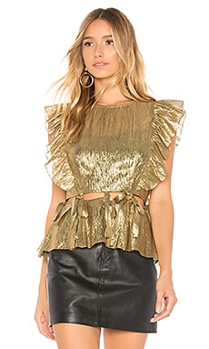 Sleeveless Lame Top Rebecca Taylor $350