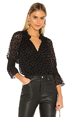Long Sleeve Velvet Dot Top Rebecca Taylor $375