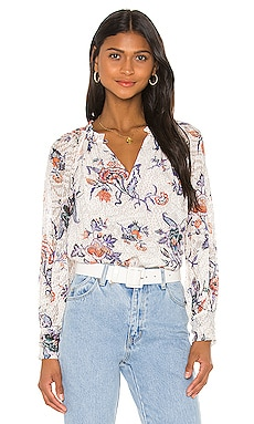 Long Sleeve Toile Top Rebecca Taylor $94 (SOLDES ULTIMES)