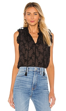Sleeveless Vine Embroidery Top Rebecca Taylor $231