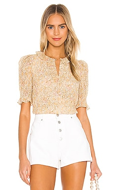 Short Sleeve Soleil Floral Top Rebecca Taylor $201
