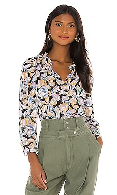 Long Sleeve Bow Fleur Top Rebecca Taylor $77