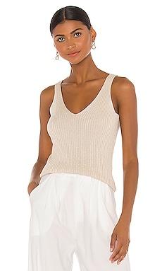Sleeveless Sparkle Rib Pullover Rebecca Taylor $124
