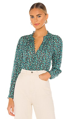 Long Sleeve Climbing Roses Blouse Rebecca Taylor $163