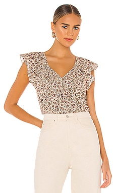 Short Sleeve Claudine Print Top Rebecca Taylor $195