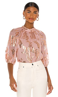 3/4 Sleeve Datura Floral Blouse Rebecca Taylor $350