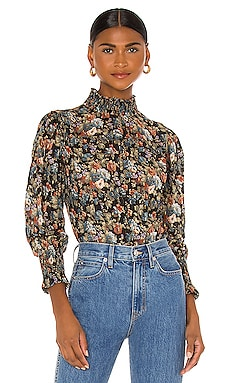 Long Sleeve Petit Zinnia Blouse Rebecca Taylor $250