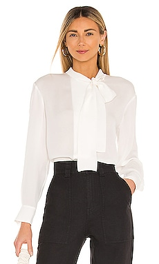 Long Sleeve Georgette Neck Tie Blouse Rebecca Taylor $265
