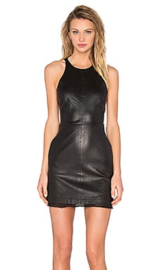RtA Jaqueline Leather Dress in Mystic