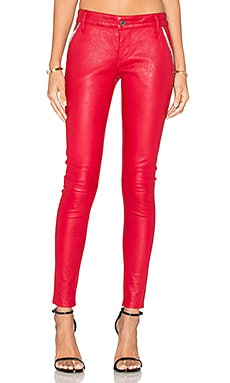 RtA Lucy Leather Skinny in Lipstick