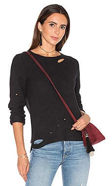 RtA Jules Distressed Sweater in Raven
