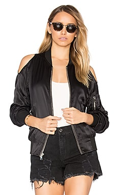 Jester Silk Bomber Jacket in Noir