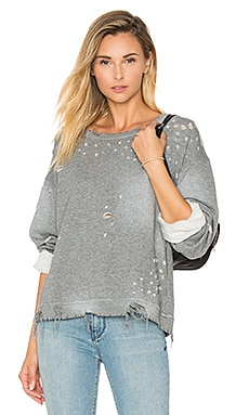 RtA Beal Distressed Sweatshirt in Grey