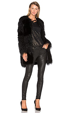 Guinevere Faux Fur Coat in Nite