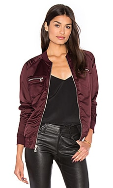 Astrid Bomber Jacket in Wine