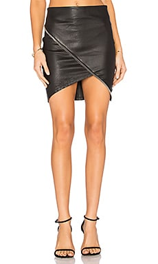 Ivy Leather Skirt in Noir