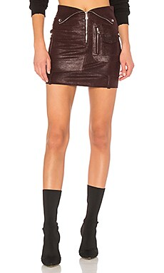 Gisele Leather Skirt