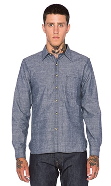 Rogue Territory Traveler Button Down in Blue Chambray