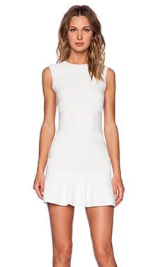 Red Valentino Viscose Yarn Dress in Blanco