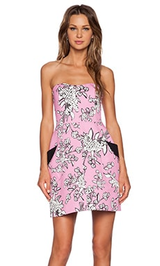 Red Valentino Bouquet Print Dress in Peony