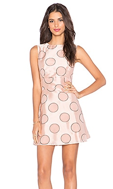 Red Valentino Polka Dot Party Dress in Nude