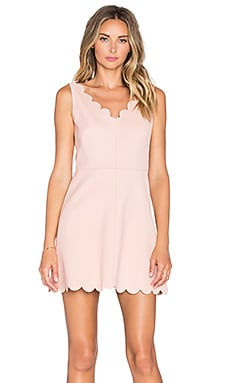 Red Valentino Scalloped Mini Dress in Nudo