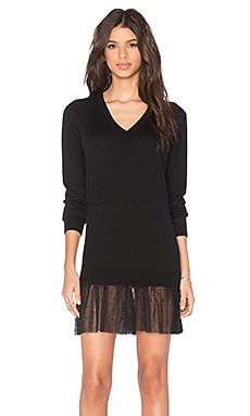 Red Valentino Lace Sweater Dress in Nero