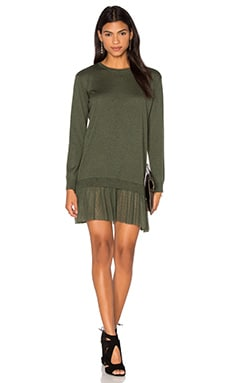 Red Valentino Drop Waist Sweater Dress in Sage
