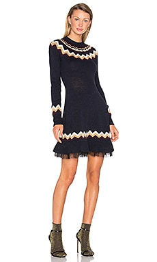 Fit & Flare Sweater Dresse