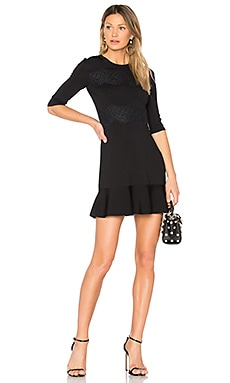 Short Sleeve Mini Dress en Noir