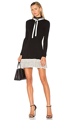 Tie Neck Detail Mini Dress