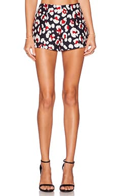 Red Valentino Leopard Print Short in Navy Red