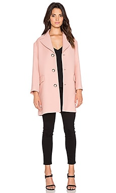 Red Valentino Single Breasted Coat in Nude