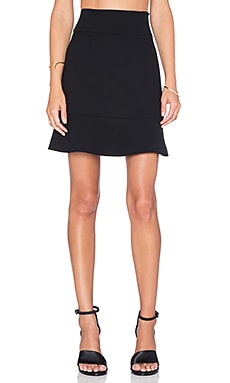 Red Valentino Ruffle Mini Skirt in Nero