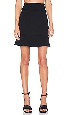 Red Valentino Ruffle Mini Skirt in Nero