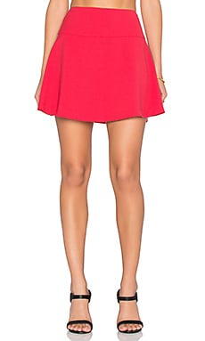 A-Line Mini Skirt in Red