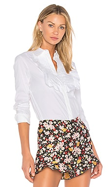 Ruffle Button Down
