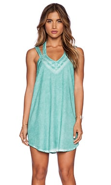 RVCA Tunnel Vision Dress in Seagrass